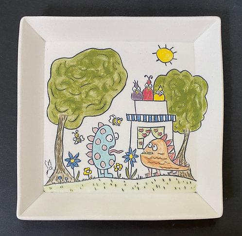 Gertrude Falls in Love--Plate 7x7