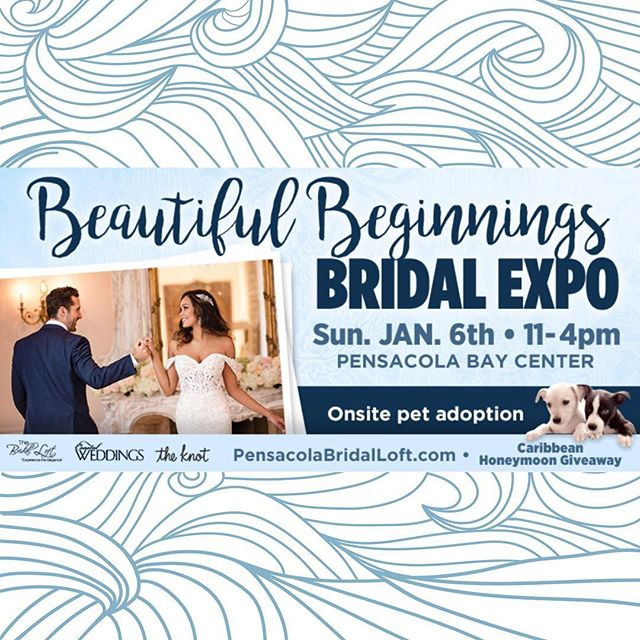 Beautiful Beginnings Bridal Expo 2019 The Bridal Loft The Knot Coastal Weddings Pensacola PhotoBooth Photo Booth A DJ Connection Wedding Gulf Coast