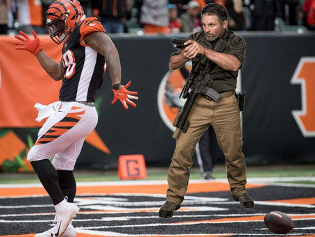 Bengals Fans Thrilled As Active Shooter Storms Field, Ends Game.