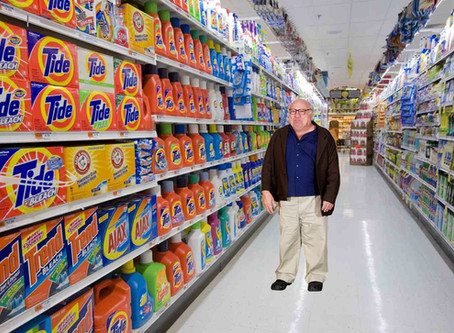 Danny DeVito Seen Unscrewing the Caps off Laundry Detergents at Target