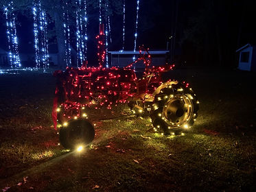 Christmas in the Country tractor with lights