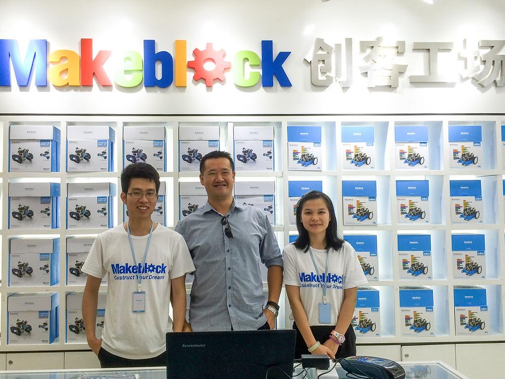 Makeblock display shop in Shenzhen