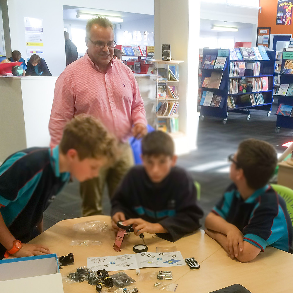 Paul seeing the kids engaged at Northcote Intermediate School