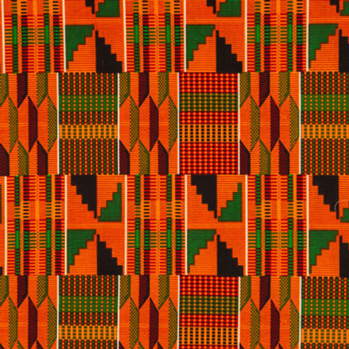 Orange Pattern Kente