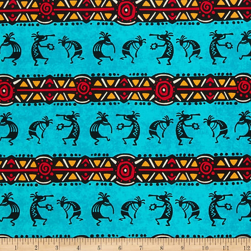 Coyote Canyon Kokopelli Stripe Turquoise