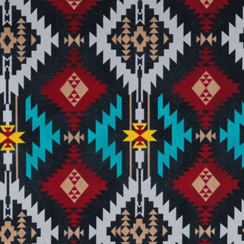 Black & Multi Tribal Print