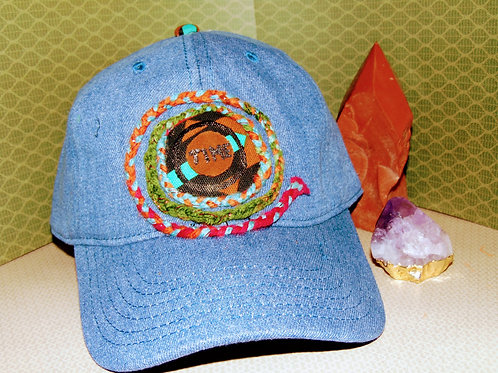 Spiral In Time Hat Brown & Multi Tribal