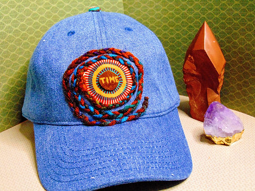 Spiral In Time Hat Teal & Red