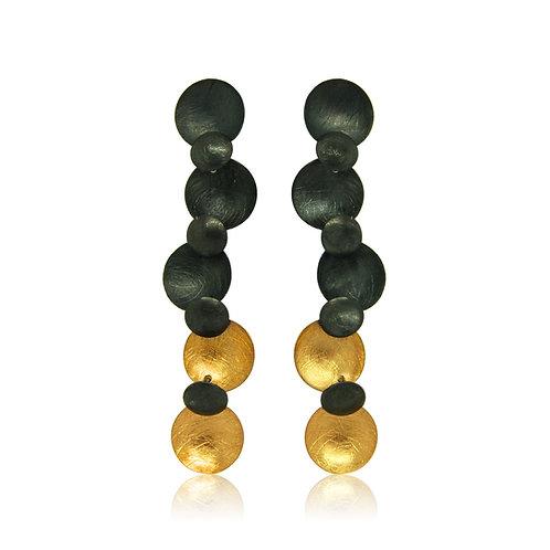 Handmade Designer Gold Plated & Oxidised Silver Earrings