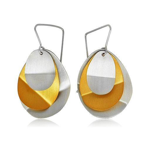 Handmade Designer Goldplated Sterling Silver Earrings