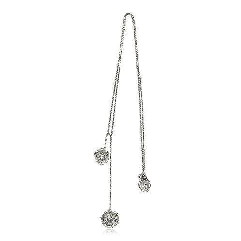 Handmade Designer Silver & Crystal Pendant