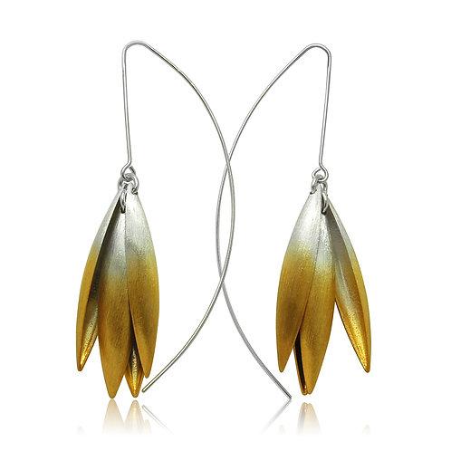Handmade Designer Goldplated Sterling Silver Earring