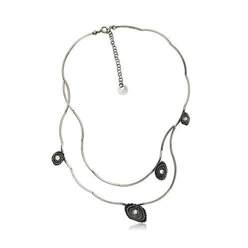 Handmade Designer Silver & Crystal Collar