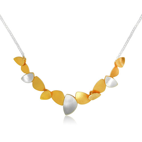 Handmade Designer Brushed Goldplated Necklace