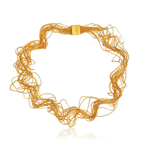 Handmade Designer Gold Plated Silver Necklace