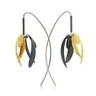 Sterling silver gold plated oxidised designer earrings