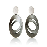 Sterling Silver oxidised drop earrings