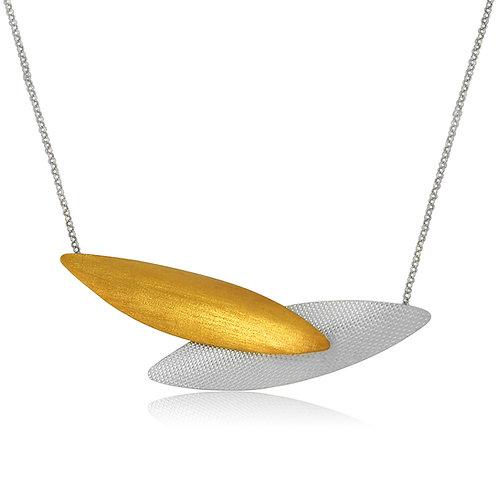 Handmade Designer Gold Plated Silver Collar