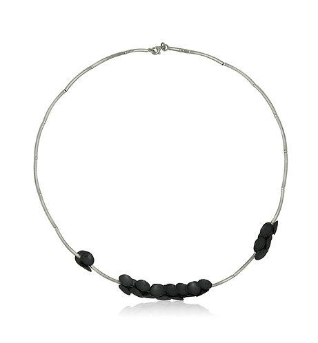 Handmade Designer Oxidised Silver Collar