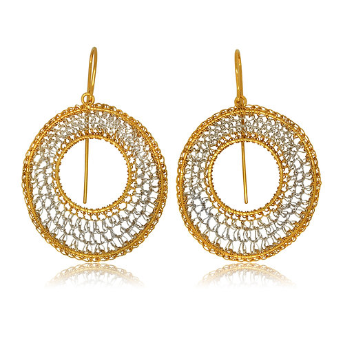 Handmade Designer Goldplated Sterling Silver Earrings