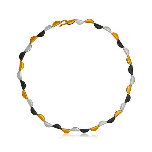 Handmade Designer Oxidised Gold Plated Necklace