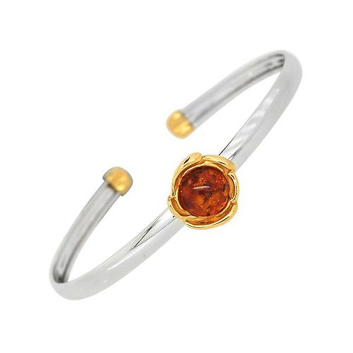 Silver Gold Plated Amber Bangle