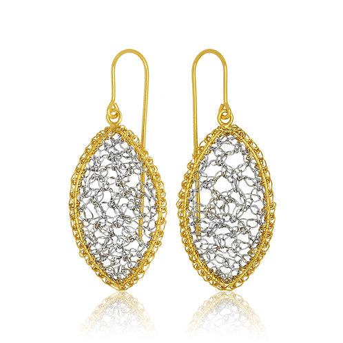 Handmade Designer Gold Plated Filigree Earrings