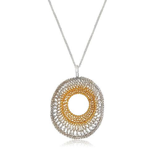 Handmade Designer Goldplated Sterling Silver Pendant