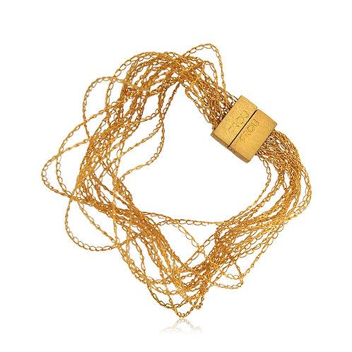 Handmade Designer Gold Plated Silver Bracelet