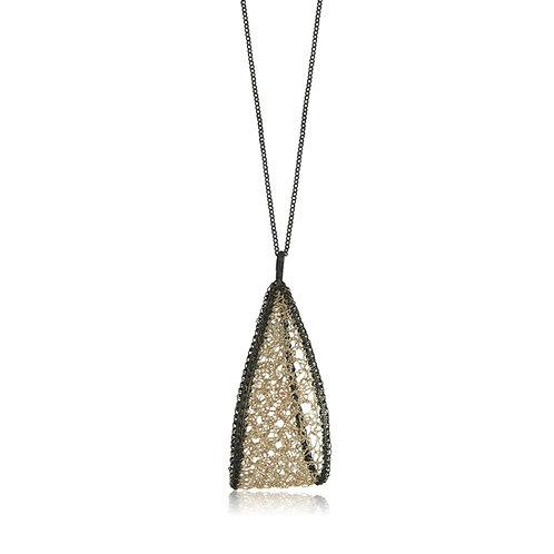 Handmade Designer Oxidised Sterling Silver Pendant