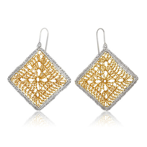 Handmade Designer Gold Plated Filigree Earrings