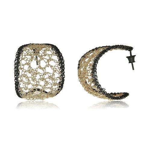 Handmade Designer Oxidised Sterling Silver Earrings