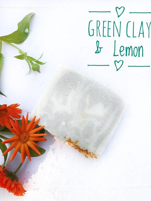 SALT Kropsbar Green Clay & Lemon 175 g