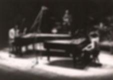PhilippeLejeune en concert en duo de piano avec Memphis Slim au Théâtre de Reims, France (1980)
