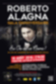 Affiche Roberto Alagna - Gala d'anniversaire