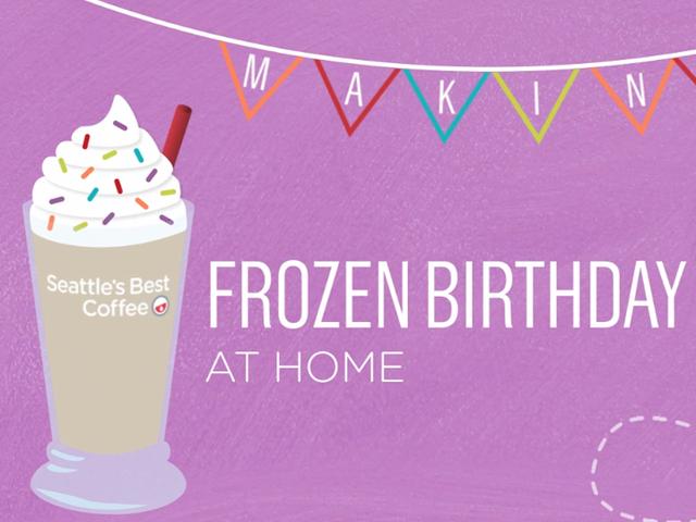 Frozen Birthday Cake Latte