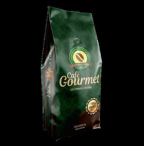 Café Gourmet em Grãos 100% arábica - Café Selo Verde (1kg)