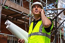 Male builder foreman, worker or architec