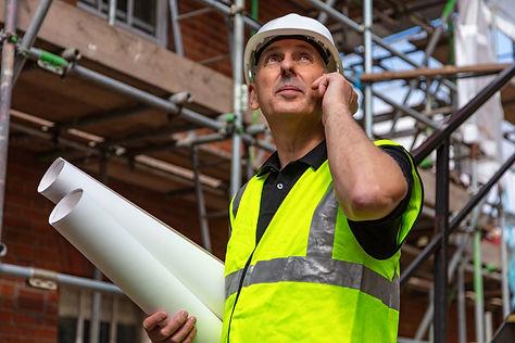 Male builder foreman, worker or architec