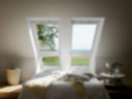 Dachfenster von Velux- und Roto