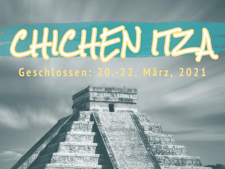 Chichen Itza bleibt während der Tag-und-Nacht-Gleiche 2021 geschlossen