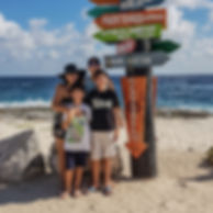 Family at Cozumel