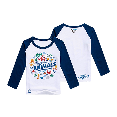Kids Sun Protection UPF 50+ UV Outdoor Long Sleeve Dri-fit T-Shirt