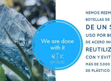 Kay Tours Mexico esta libre de las botellas de plástico