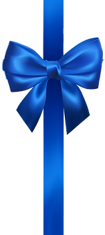 realistic-blue-bow-with-blue-ribbons-iso