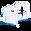 Thumbnail: Atmungsaktives (Dry-Fit) UPF 50+ UV Sonnenschutz Langarm Funktions T-Shirt Walhai Welle