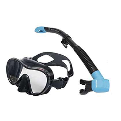 Professional Snorkel/Scuba Set Goggles and Snorkel different colors and bag