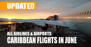 A complete list of all commercial airlines arriving to the most popular vacation destinations.