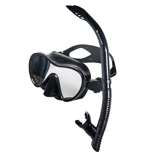 Professional Snorkel/Scuba Set Goggles and Snorkel