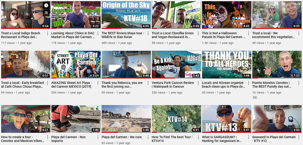 Dieser YouTube-Kanal dient dazu, dich zu inspirieren und dir Anregungen zu geben, was du während deines Urlaubs in Mexiko machen kannst.